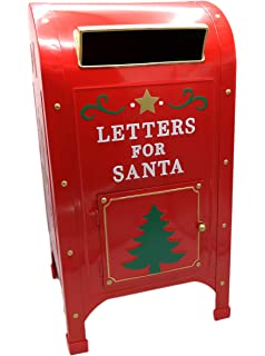 hdiuk north pole express official red letters to santa metal mailboxpost box