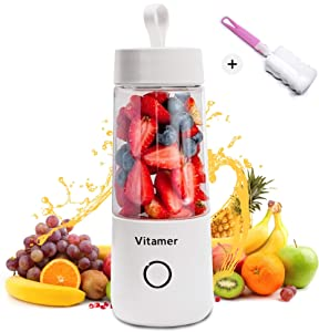 Portable Blender - High Speed USB Rechargeable Hand Blender - Mini Personal Blender For Shakes And Smoothies - 350 ml Shake Bottle Mixer - Handheld Travel Blender - Bottle Electric Juicer - Baby Food Blender
