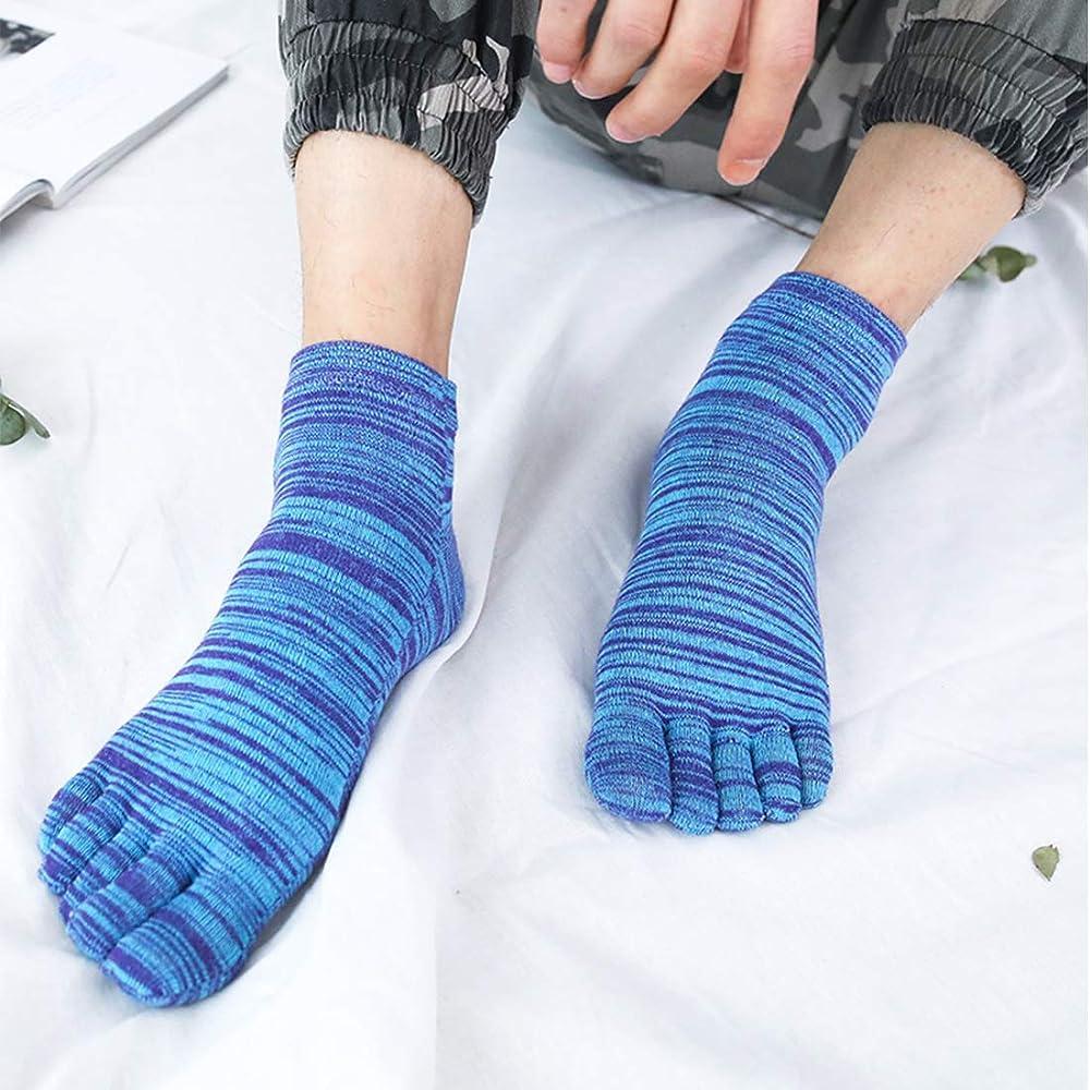 MOAMUN 5 Pares De Primavera Cinco Dedos Dedo Del Pie Calcetines Para Hombres Mujeres Algodón, Damas Calcetines De Tobillo De Corte Bajo Suaves Y Transpirables (Hombres): Amazon.es: Ropa y accesorios
