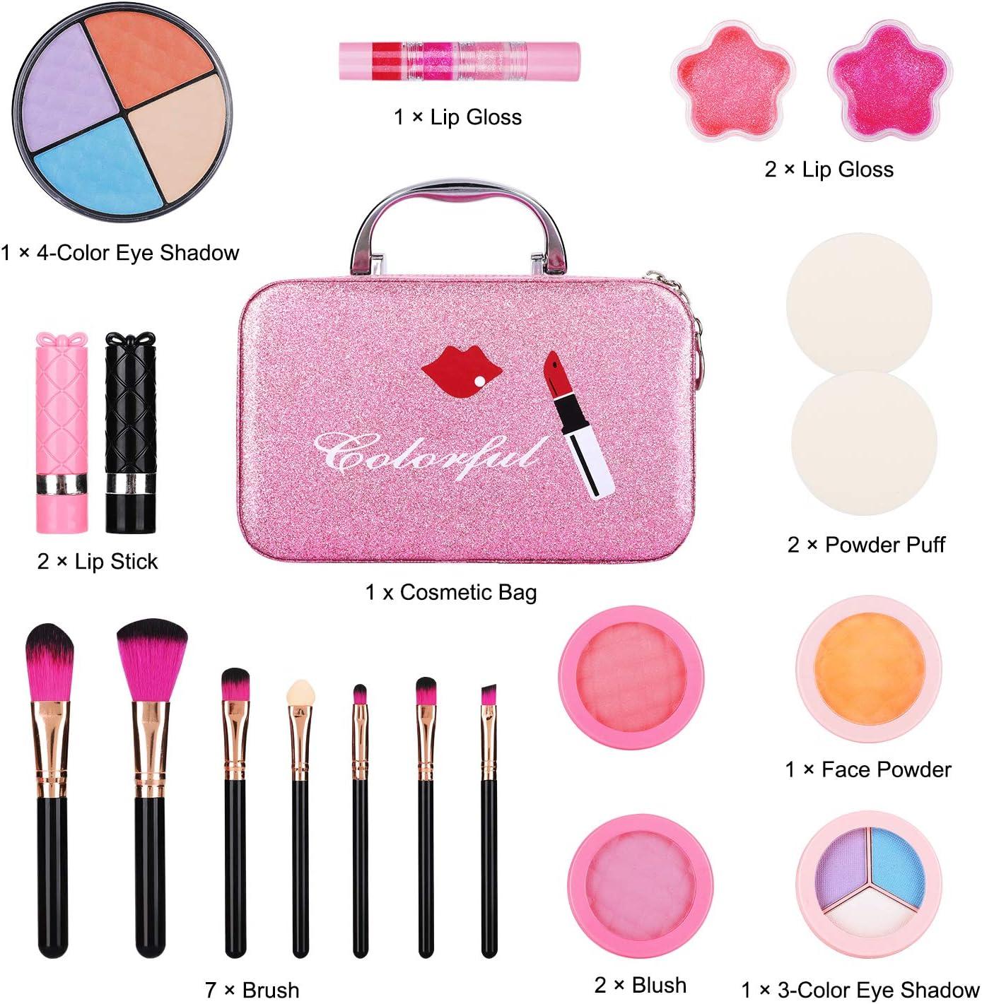 ARANEE Maquillaje Niñas Set Maletin Juguete Niña 21 PCS: Amazon.es: Juguetes y juegos