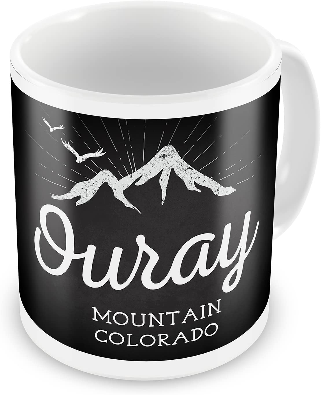Coffee Mug Mountains Chalkboard Ouray Mountain Colorado Neonblond Kitchen Dining