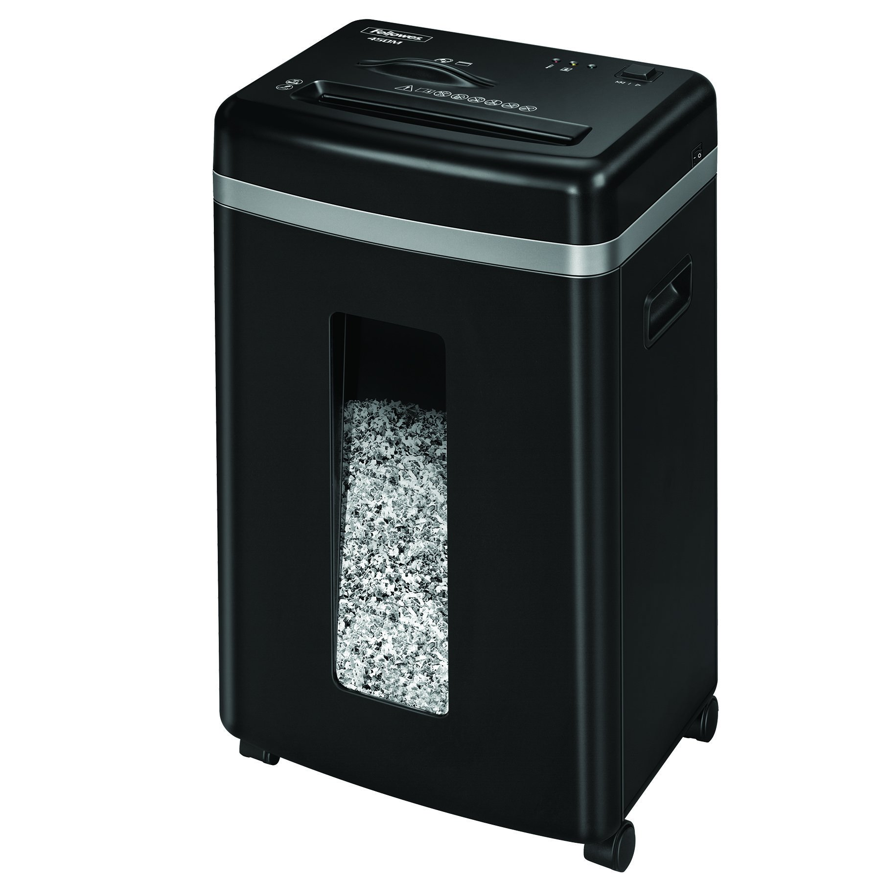 Fellowes 450M 9-Sheet Micro-Cut Office Paper Shredder with Auto Reverse Jam Prevention Feature and SilentShred Noise Control Technology (4074001)
