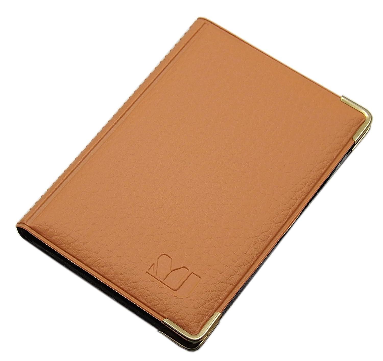 Exclusivo tarjetero para tarjeta de crédito y tarjeta de visita en varios colores y diseños (Diseño 1 / Marrón)