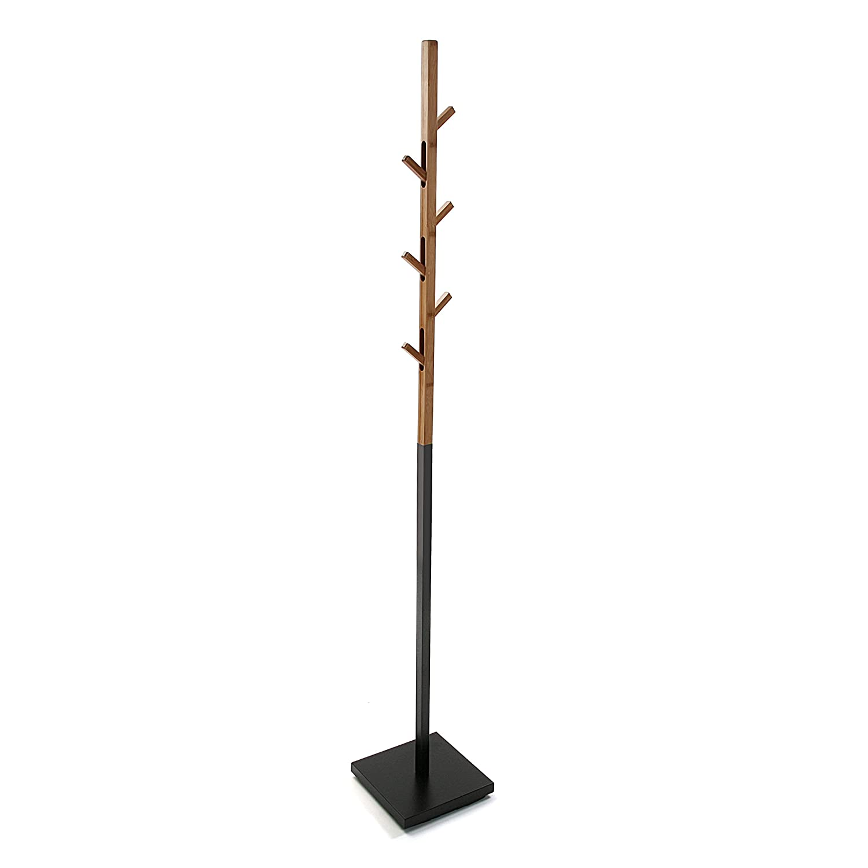 Versa Berlin Garderobe, Holz, Schwarz, 34.5 x 5 x 93 cm