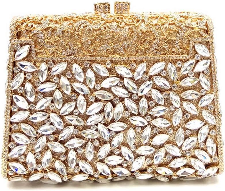 GUANGJUYUAN-Qualität Damen-Abendessen-Beutel/Quadrat High-End-Handgemachte Frauen-Beutel/Bestecke Schulter Virgule Bag Casual Trend Bag (Farbe : Gold) Red