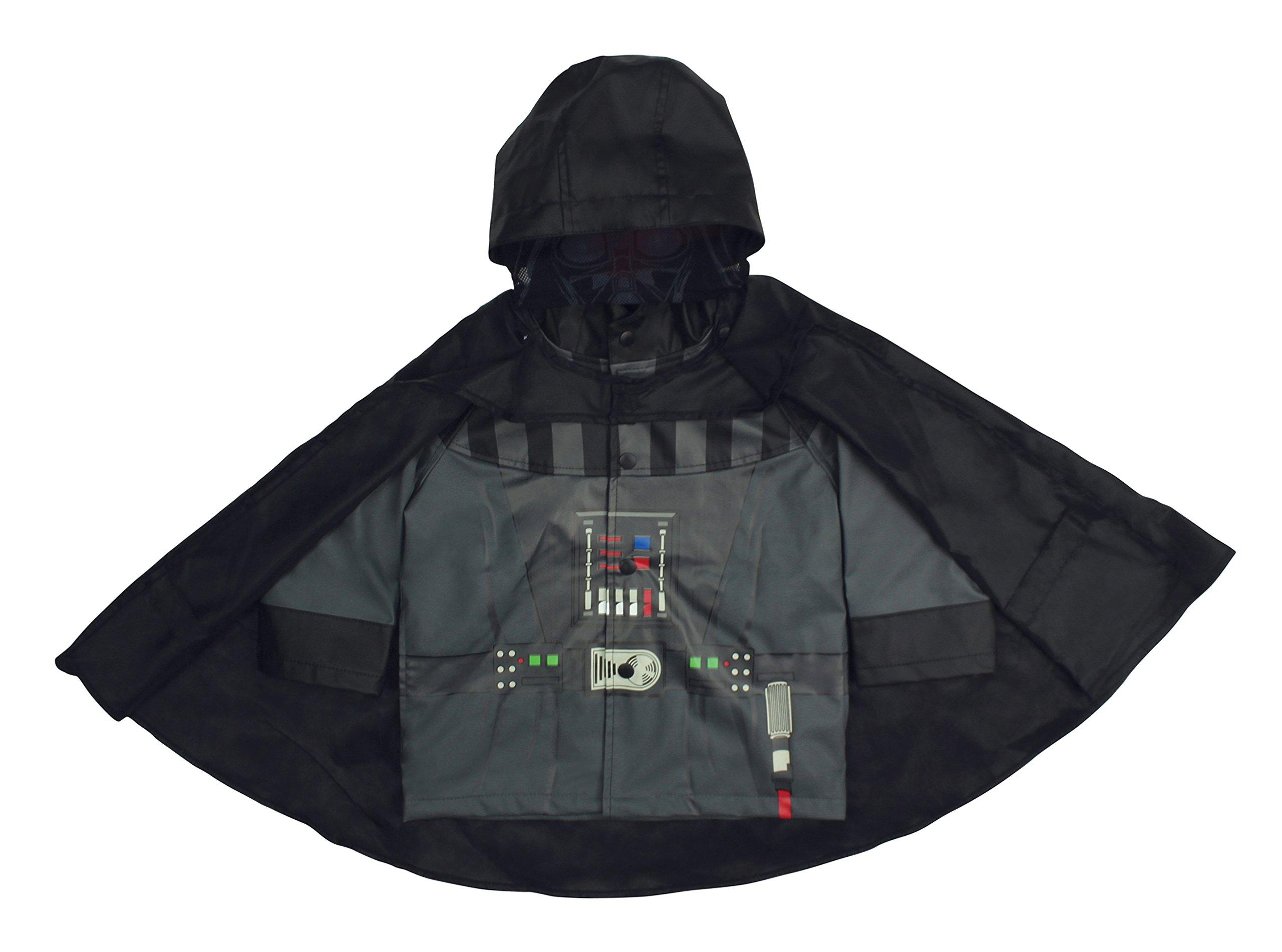 Western Chief Kids Disney Character lined Rain Jacket, Star Wars Darth Vader, 4T