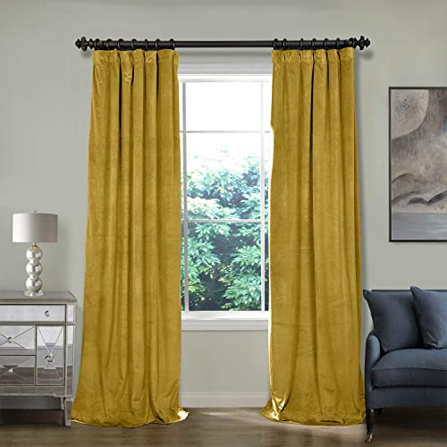 ChadMade 100W x 120L Inch Soft Premium Velvet Curtain Drapery
