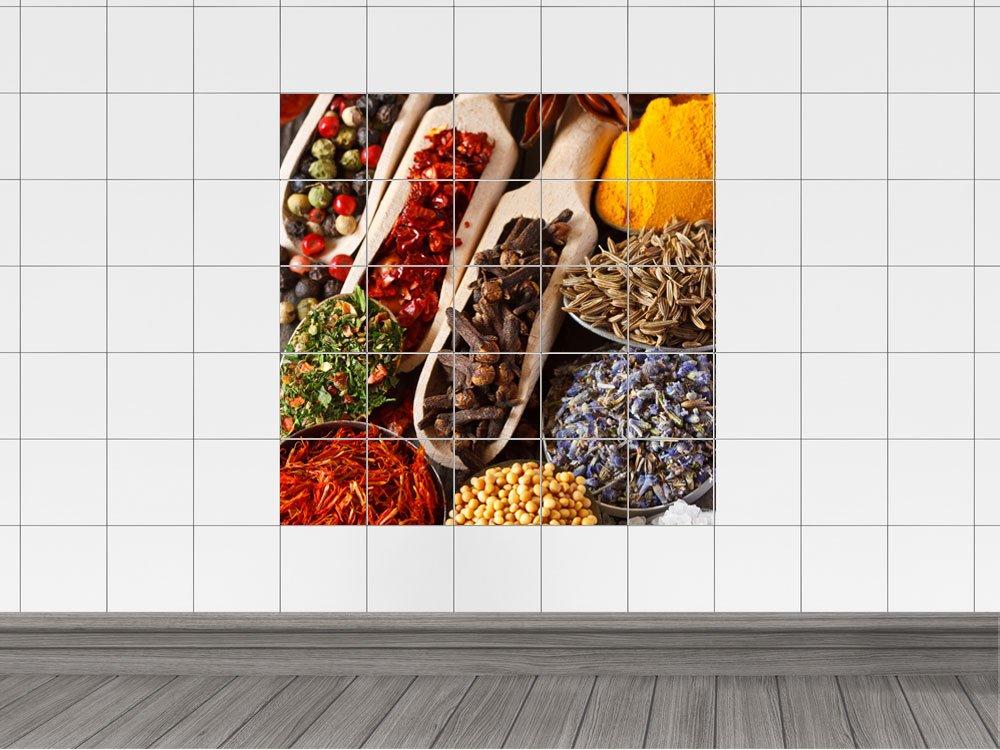 Piastrelle adesivo piastrelle immagine spezie curry giallo senape