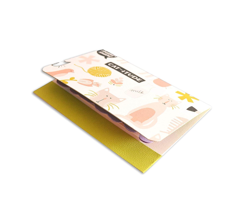 haarige Liebe Gru/ßkarte mit Umschlag Purrfect Miau ist alles was du brauchst freier Raum nach innen Pop-Up K/ätzchen K/ätzchen meines Herzens 10,5 x 15 cm - handgemachte Karte