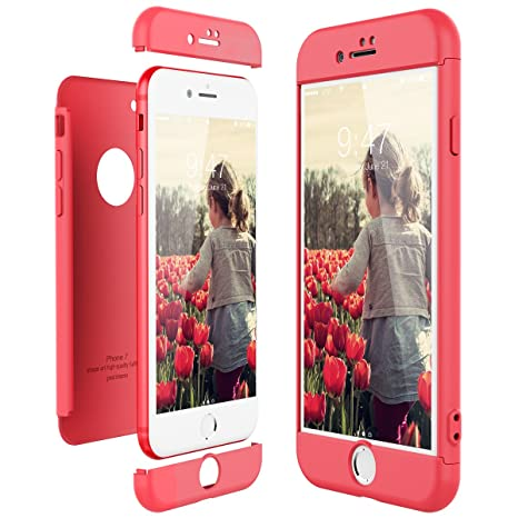CE-Link Funda para Apple iPhone 7 Rigida 360 Grados Integral, Carcasa iPhone 7 Silicona Snap On Diseño Antigolpes Choque Absorción, iPhone 7 Case ...