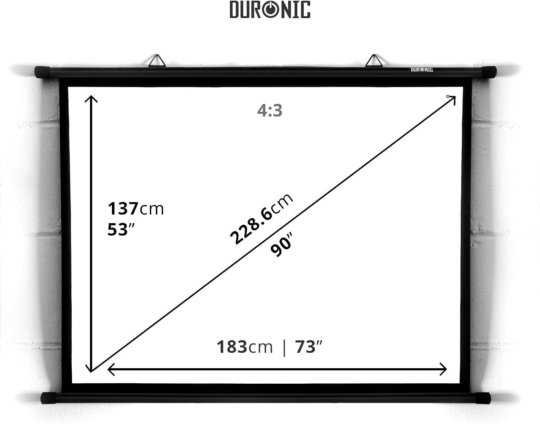 Duronic BPS90 /43 Pantalla de Proyección de 90 Pulgadas Montaje ...