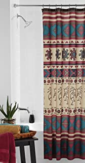 Southwest Fabric Shower Curtain Southwestern Anasazi Kokopelli Aztec Bath Decor