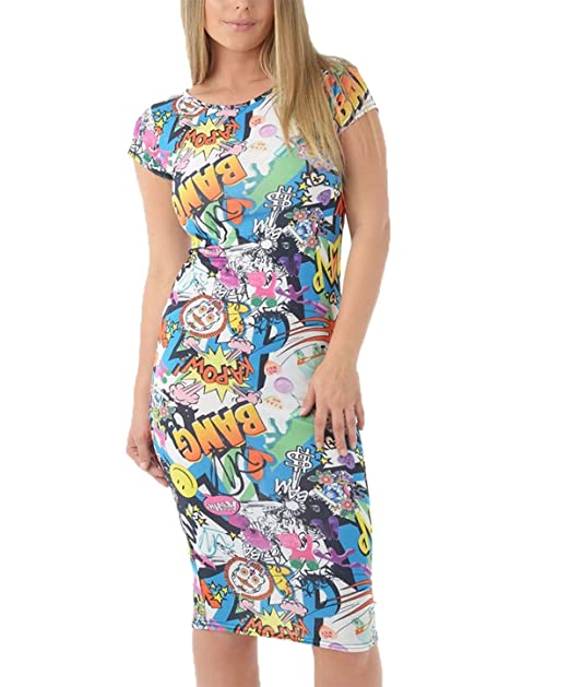 6fb1b2f92663 Islander Fashions Womens Bang Imprimer Barboteuse Jumpsuit Maxi Jupe Crop Top  Jupe Crayon Fantaisie Robe mi-Longue  Amazon.fr  Vêtements et accessoires