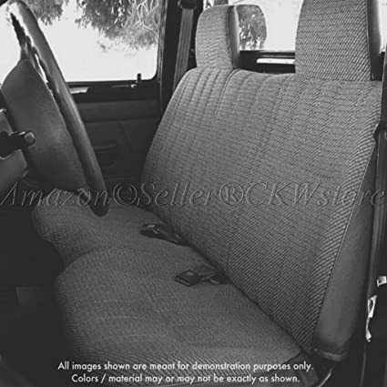 A25 Toyota Pickup Front Solid Bench Charcoal Seat Covers, Triple Stitched  With 8mm Extra Thick