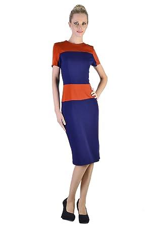 SEXYHER Ladies Victoria Beckham Same Style O-Neck Short Sleeve Bodycon Dress - LAN0035