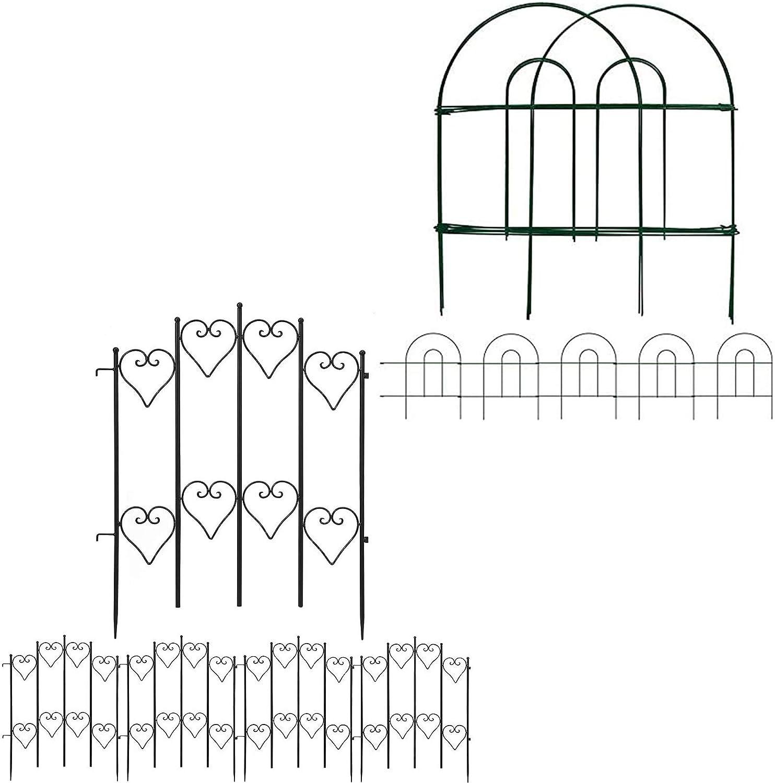 Amagabeli Decorative Garden Fence 18 in x 50 ft Bundle Garden Fence 27inx9ft