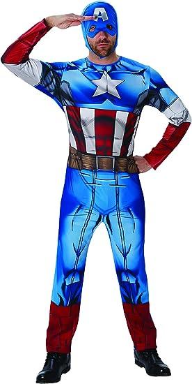 Rubies Disfraz de Capitán América de Marvel de la Marca, Adulto ...