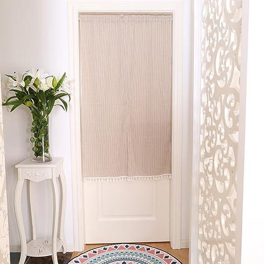 S&R Simple Algodón Puertas persianas, Cortina para Dormitorio ...