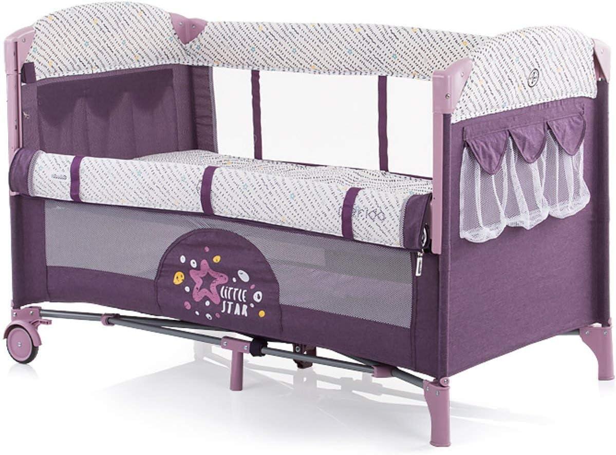 cama lateral Merida dos niveles bolsillo lateral apertura lateral marr/ón marr/ón Chipolino cama de viaje