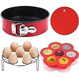 "Instant Pot Accessories, MCIRCO Instant Pot Accessories Set, 7""Non-stick Leakproof Cake Pan - Silicone Egg Bites Molds with Lids and Bonus Egg Steamer Rack - Fits Instant Pot 5,6,8 qt Pressure Cooker"
