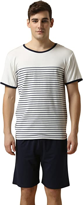QianXiu Verano Pijamas para Hombre Ropa para Hombres Juego de Dormir de Manga  Corta Modal Conjunto de Noche Conjunto de Pijama Ropa de Dormir 6e7590288926