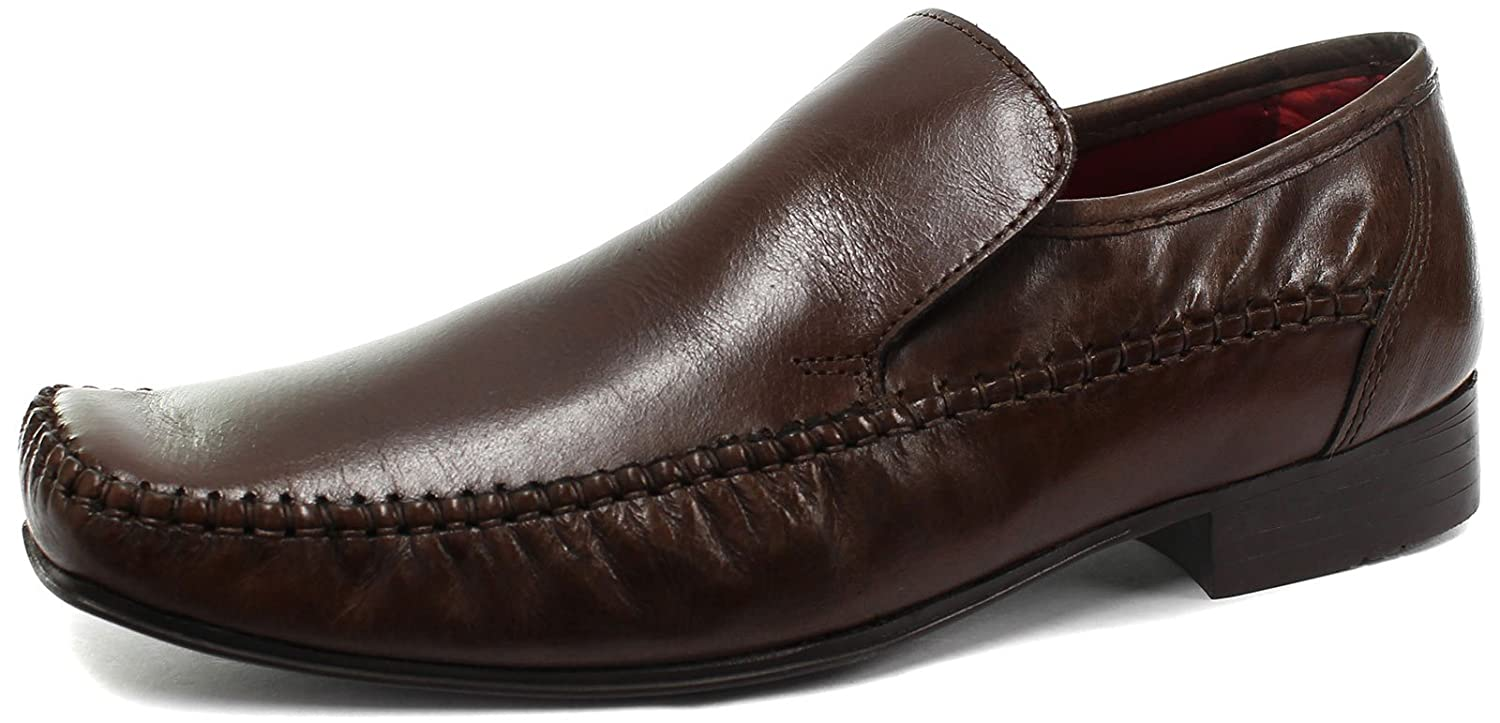 Red Tape Whittle Brown Mens Leather Slip On Shoes