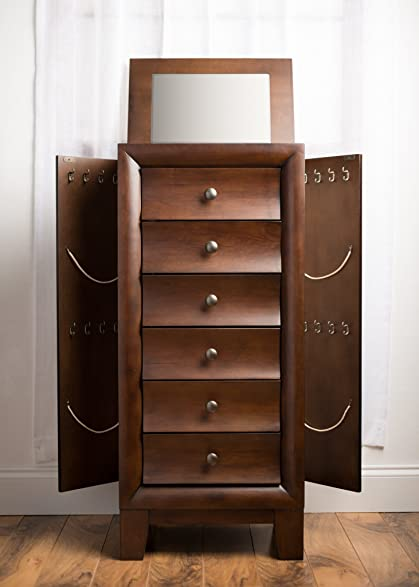 Amazoncom Hives and Honey Ashton Jewelry Armoire Antique Walnut