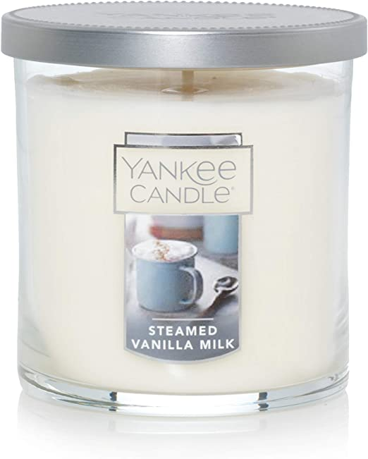 Yankee Candle Small Tumbler Jar Steamed Vanilla Milk Scented Premium Paraffin Grade Candle Wax with up to 55 Hour Burn Time