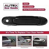 PartsSquare AUTEX 2pcs Black Exterior Door