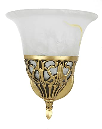Aesthetic Home Solutions Portuguese Style Antique Glass Wall Light (Golden) Wall Lights at amazon