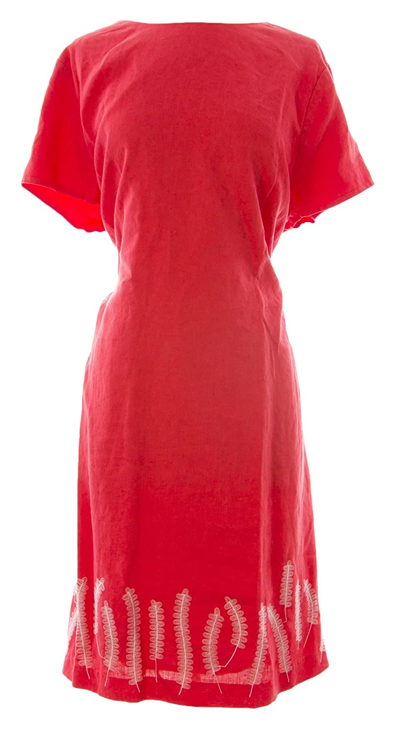 BODEN Women's Stitch Detail Dress Rouge Sunset