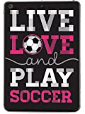Inspired Cases - 3D Textured iPad Mini Case - Rubber Bumper Cover - Protective Tablet Case for Apple iPad Mini - Live Love & Play Soccer