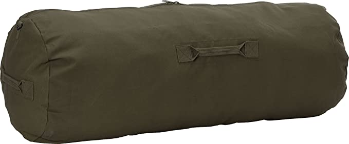 b3a1a2bcf Army Universe Olive Drab Giant Side Zipper Canvas Heavy Duty Military Duffle  Bag (30""