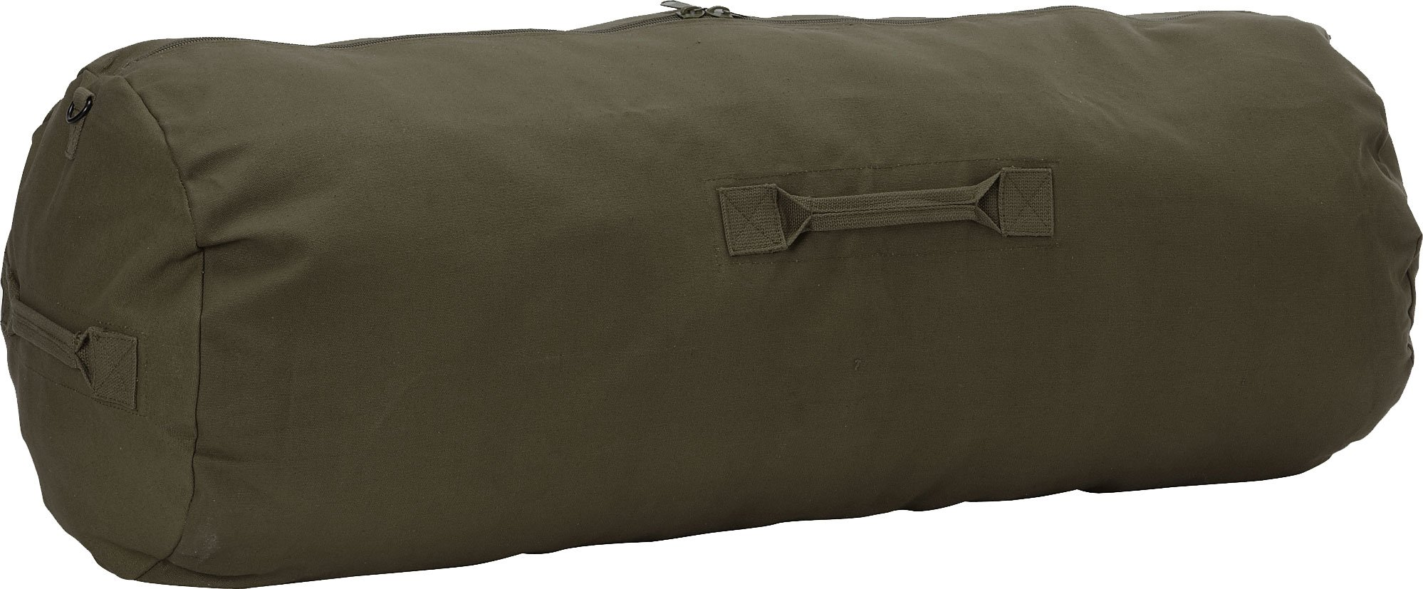Army Universe Olive Drab Standard Side Zipper Canvas Duffle Bag (21'' x 36'')