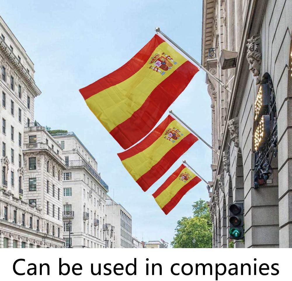 Display4top 6ft Aluminio Kit de asta de la Bandera con Soporte de Pared Ajustable de 180 Grados + 1PC Bandera (Spain Flag): Amazon.es: Jardín