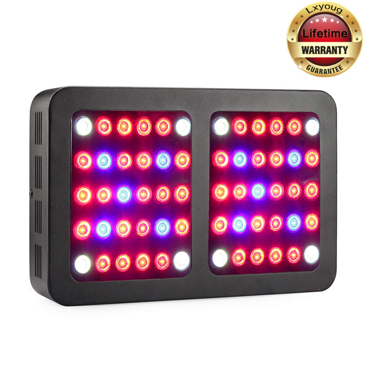 Led Grow Light, Full Spectrum Reflector 600W LED Plant Growing lamp for Indoor Plants and Flowers in Various Growth Stages, Lxyoug Plant Lights with Rope Hanger