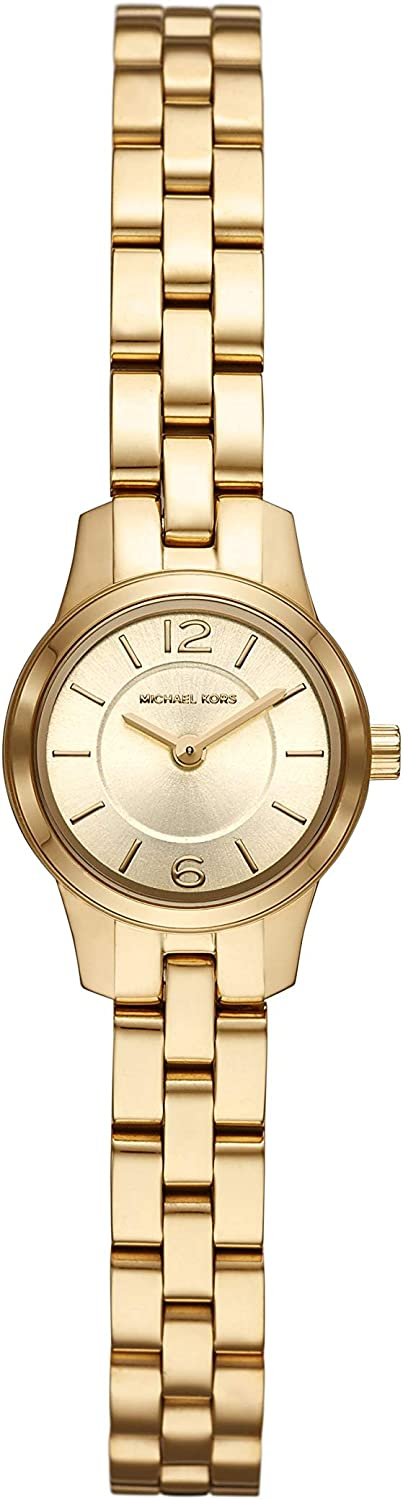 Michael Kors Women s Runway Quartz Watch with Stainless-Steel-Plated Strap