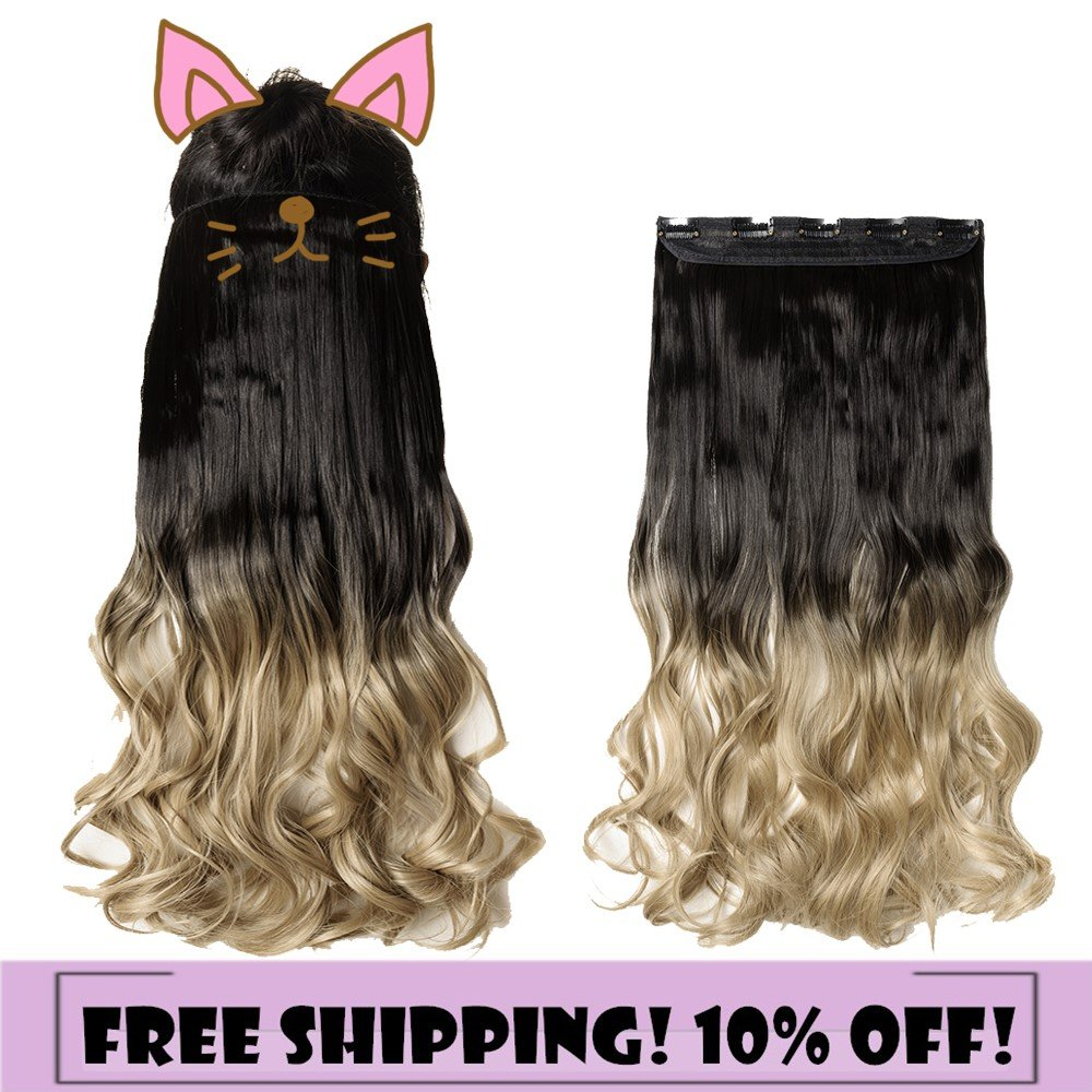 Amazon S Noilite Dip Dye Clip In Hair Extensions Ombre Two
