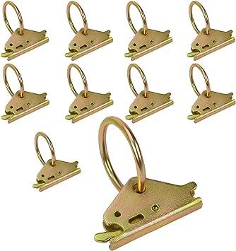 Towever 10Pcs E-Track O Ring Accessories Heavy Duty Cargo Loads Tie Down Anchor