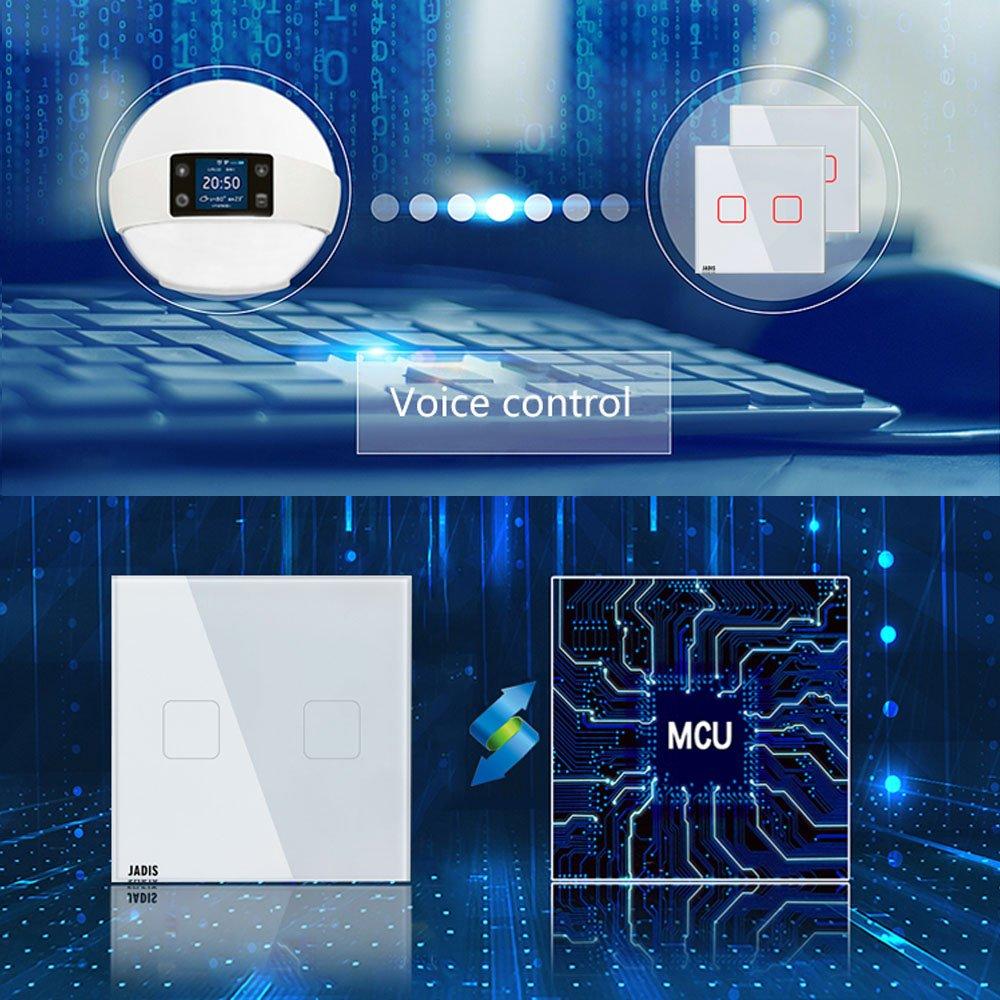 WiFi Smart Touch Bildschirm Switch Phosphoreszierendes EU Standard ...