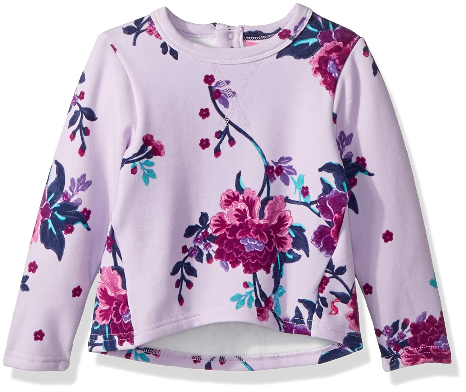 Joules Faux Fur Backed Sweater - Lilac Chinoise Floral