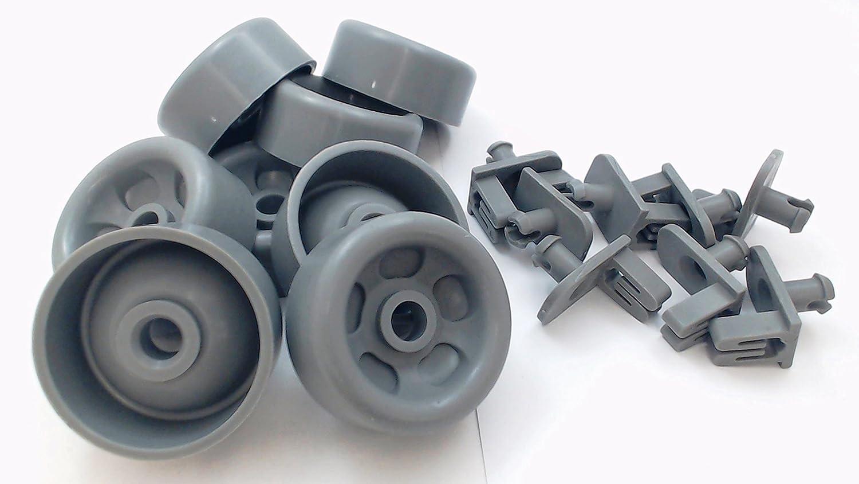 Seneca River Trading Dishwasher Lower Rack Roller & Axle Kit for GE, AP5986366, WD35X21041