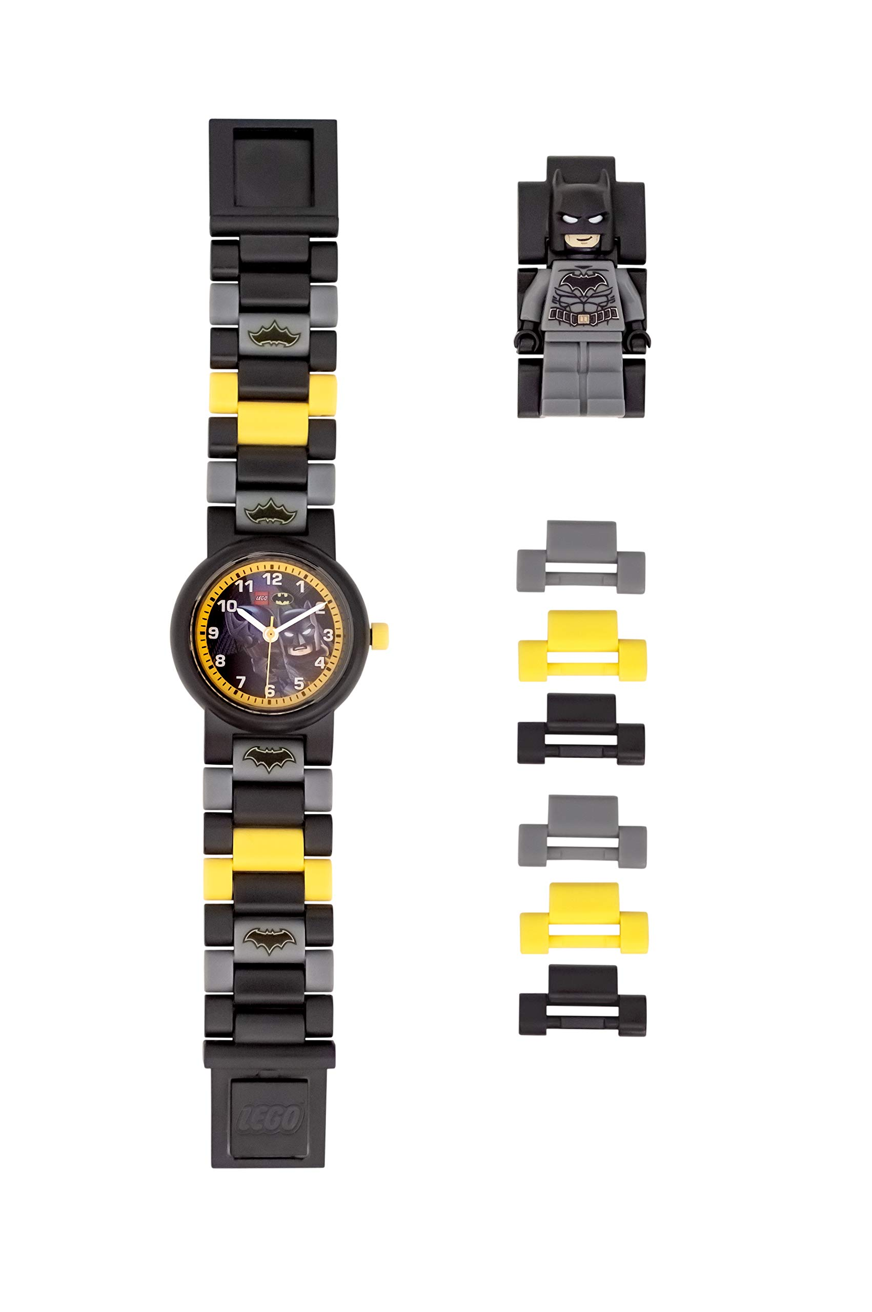 ClicTime Boys' LEGO Batman Analog Quartz Watch with Plastic Strap, Black, 20 (Model: 8021568) by ClicTime