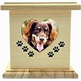 """LZH fait à la main vraiment en bois en bois chien chat urnes Photo Pet Memorial Urne cercueil pour cendres petit TAILLE Box (Dimensions intérieures: 5.4 """"* 4.9"""" * 6.9 """")"""