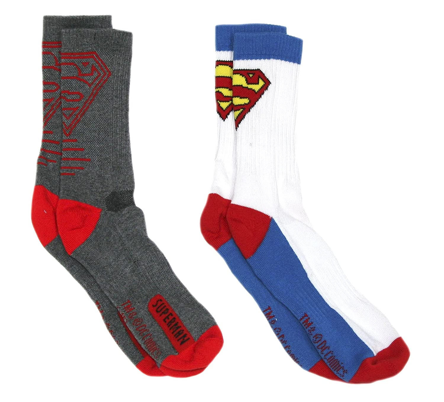 DC Comics Boys Superman Two Pair Athletic Socks