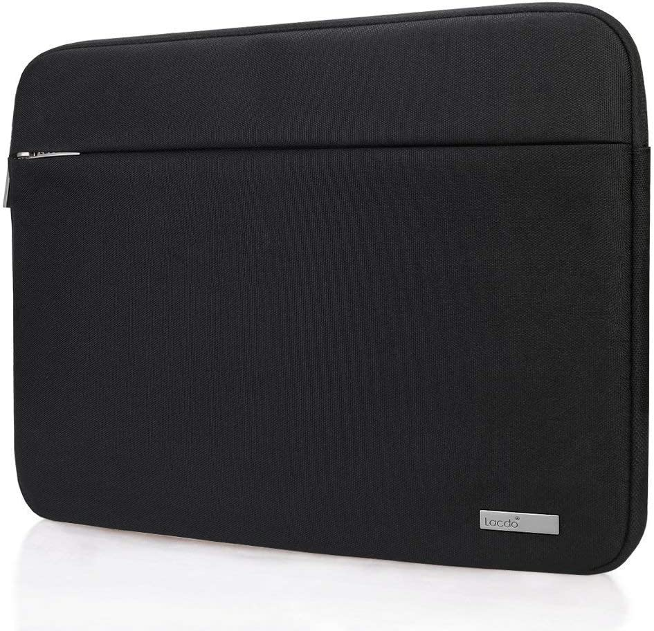 "Lacdo 15.6 Inch Laptop Sleeve Computer Case for 15.6"" Acer Aspire/Predator, Asus TUF FX505DT, Lenovo Ideapad 330, Dell Inspiron, ASUS ZenBook/VivoBook, HP Pavilion Chromebook Notebook Bag, Black"