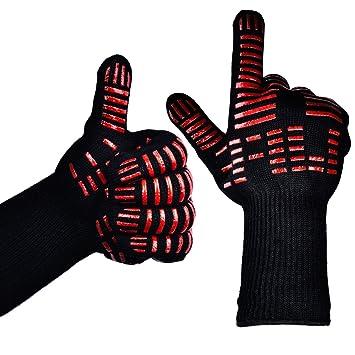 ttlife guantes de cocina para horno barbacoa y parrilla guantes de nomex y kevlar resistente
