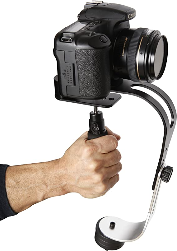 The Official Roxant Pro Video Camera Stabilizer Limited Edition (Midnight Black) with Low Profile Handle for GoPro