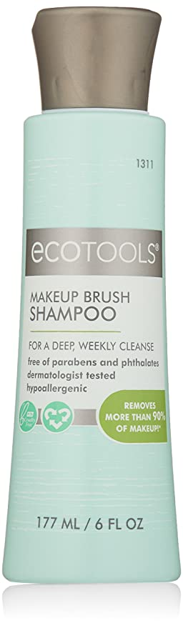 Amazon.com: Ecotools Makeup Brush Cleansing Shampoo 6 Ounce: Beauty