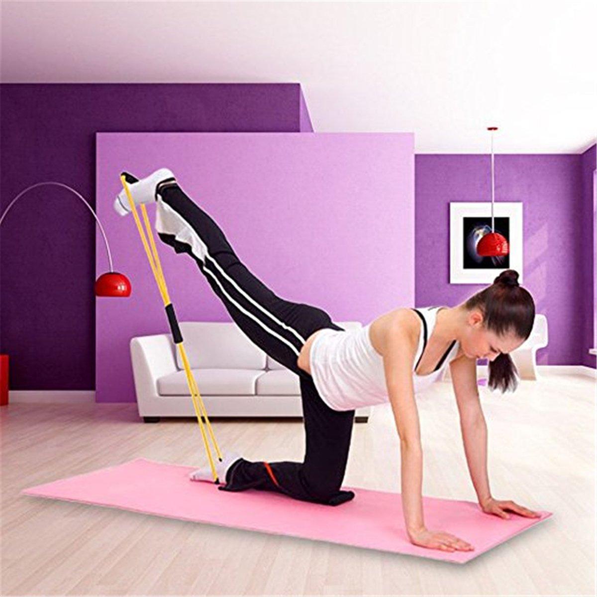 Unicoco Banda de Resistencia Banda de Ejercicios Elásticos de Fitness Ejercicio Muscular Cuerda de Tubo de Yoga para Terapia Física Entrenamiento en ...